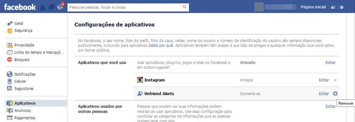 Remover Unfriend Alert do Facebook (Foto: Reprodução/Carolina Ribeiro)