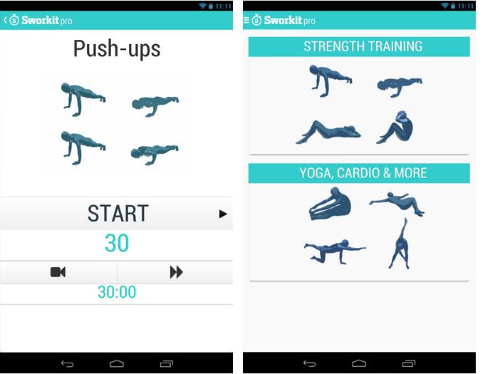 Sworkit traz diversos exercícios físicos (Foto: Divulgação)