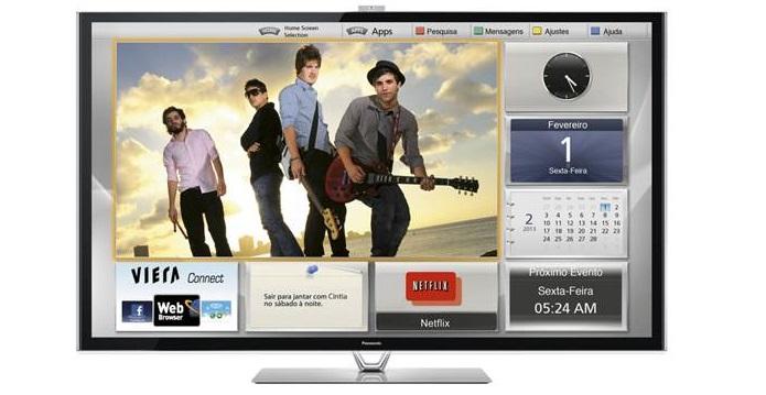 Esta é a TV da sala do BBB (Foto: Divulgação/Panasonic)