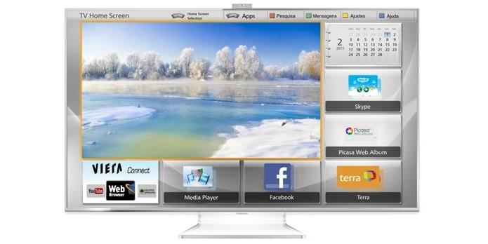 TV tem pé em acrílico (Foto: Divulgação/Panasonic)
