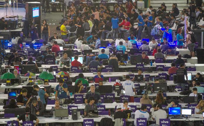 Mais de 7 mil campuseiros estiveram presentes no evento de 2013 (Foto: Divulgação/Campus Party Brasil)