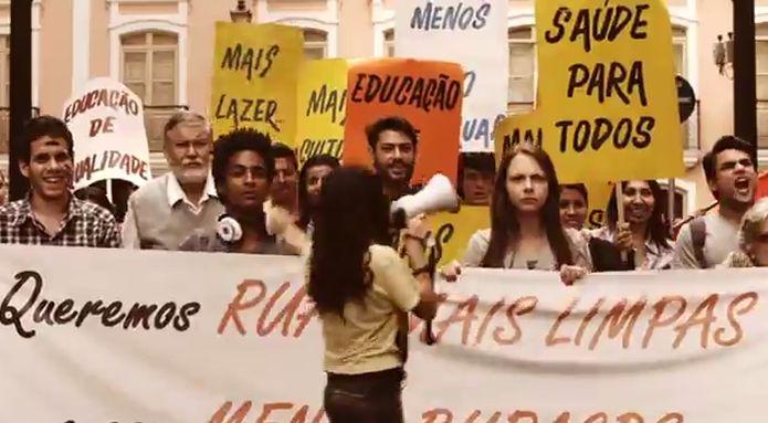 O app MyFunCity chegou a ser associado com protestos populares em 2012 e ganhou reconhecimento na ONU (Foto: Reprodução/YouTube)