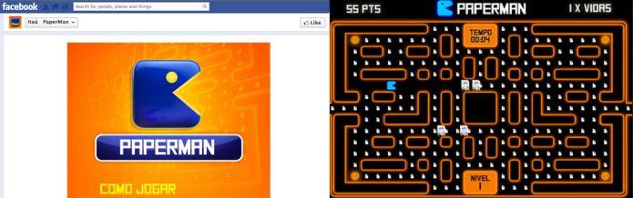 Paperman foi um advergame do Itaú que brincou com o game design de Pac-Man (Foto: Divulgação)