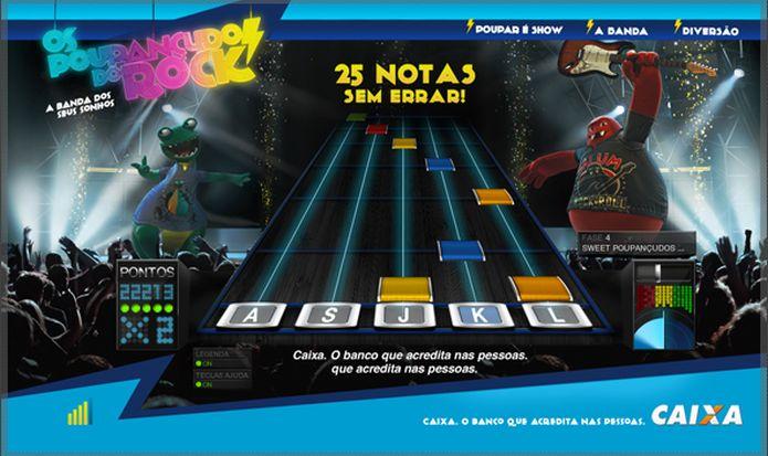 Projeto da TAXI com a Caixa Econômica Federal e a agência Fischer foi inspirado em Guitar Hero (Foto: Divulgação)