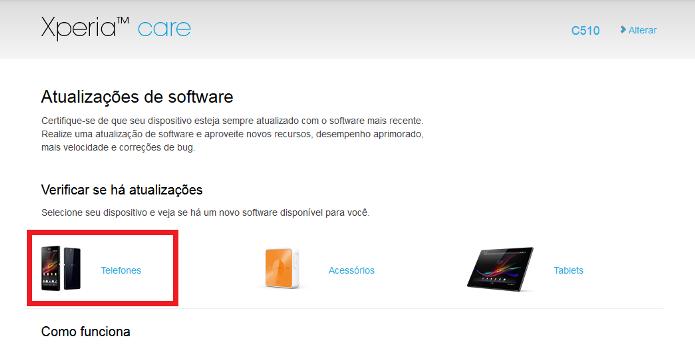 Página dos softwares no site (Foto: Reprodução/Lívia Dâmaso)
