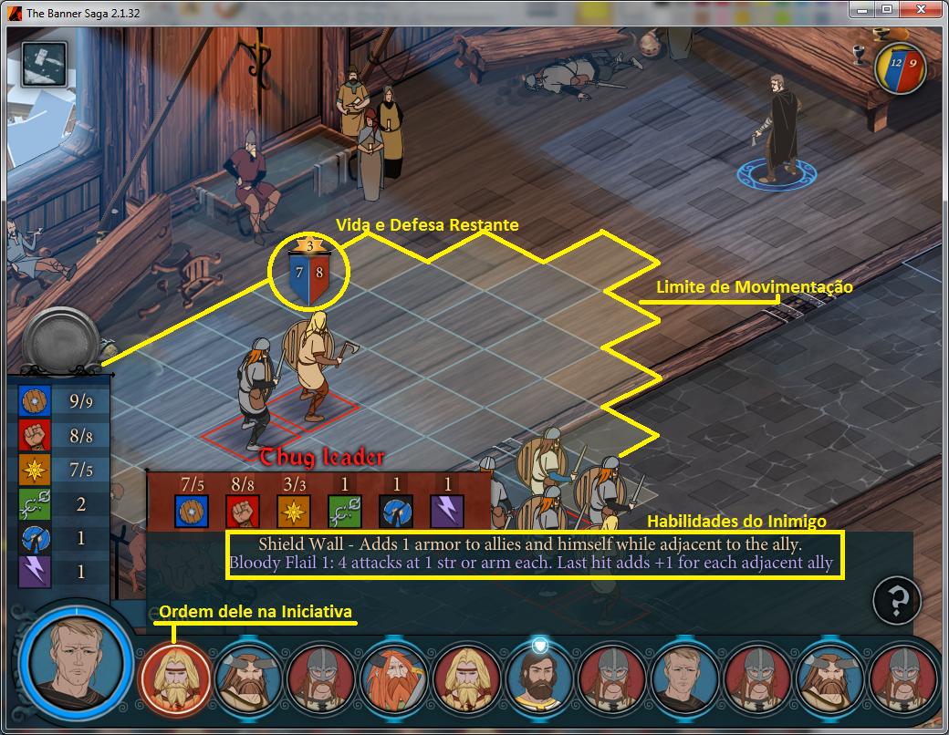 Verifique os Stats do inimigo para montar uma melhor estratégia (Foto: Reprodução/Paulo Vasconcellos)