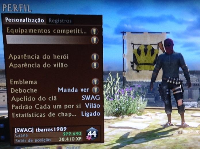 Personalize seu personagem (Foto: Thiago Barros/TechTudo)