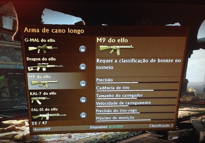 Armas do elfo são desbloqueáveis online (Foto: Thiago Barros/TechTudo)