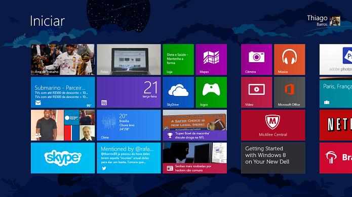 Windows 8 foi feito para o touch (Foto: Thiago Barros/TechTudo)