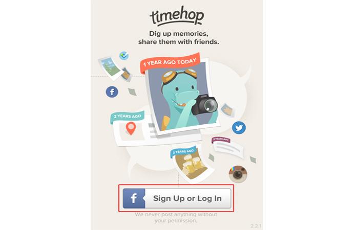 Criando uma conta no Timehop utilizando o login do Facebook (Foto: Reprodução/Marvin Costa)