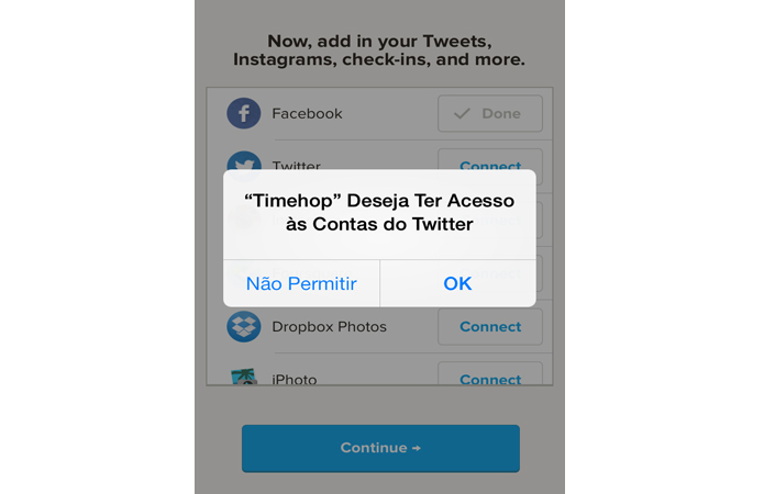 Permitindo o acesso do Timehop ao Twitter (Foto: Reprodução/Marvin Costa)