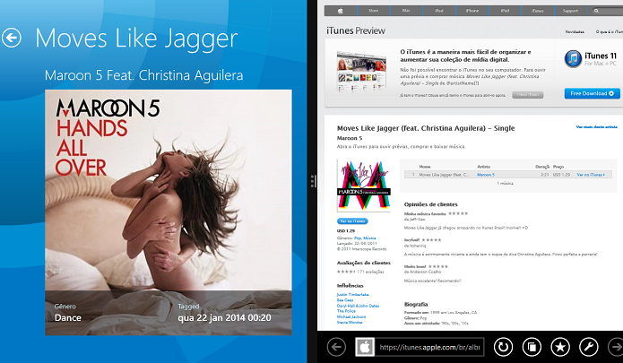 Compre música no iTunes (Foto: Thiago Barros/TechTudo)