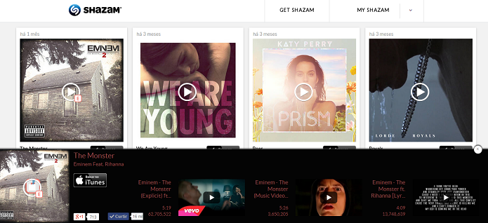 MyShazam tem opções de interação (Foto: Thiago Barros/TechTudo)