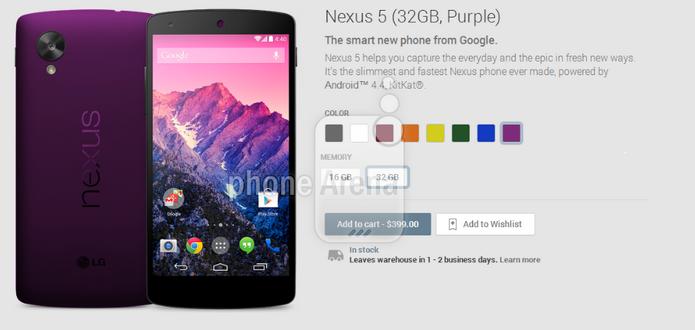 Nexus 5 pode ganhar novas cores (Foto: Reprodução/Phone Arena)