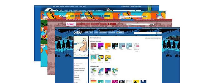 A ferramenta de temas ajuda a personalizar o perfil na rede social do Google (Foto: Reprodução/Orkut)