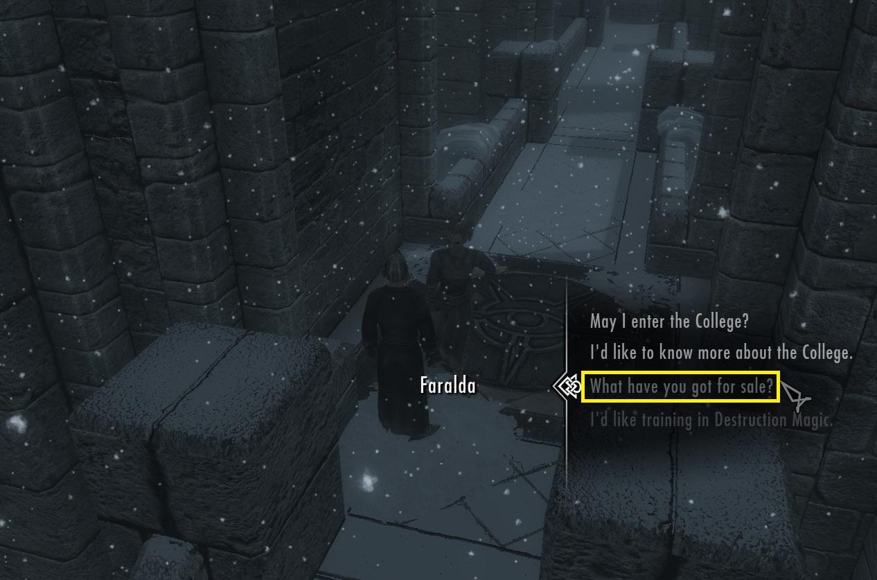 Faralda vende magias de Destruição, confira seus itens a venda (Foto: Reprodução/Paulo Vasconcellos)