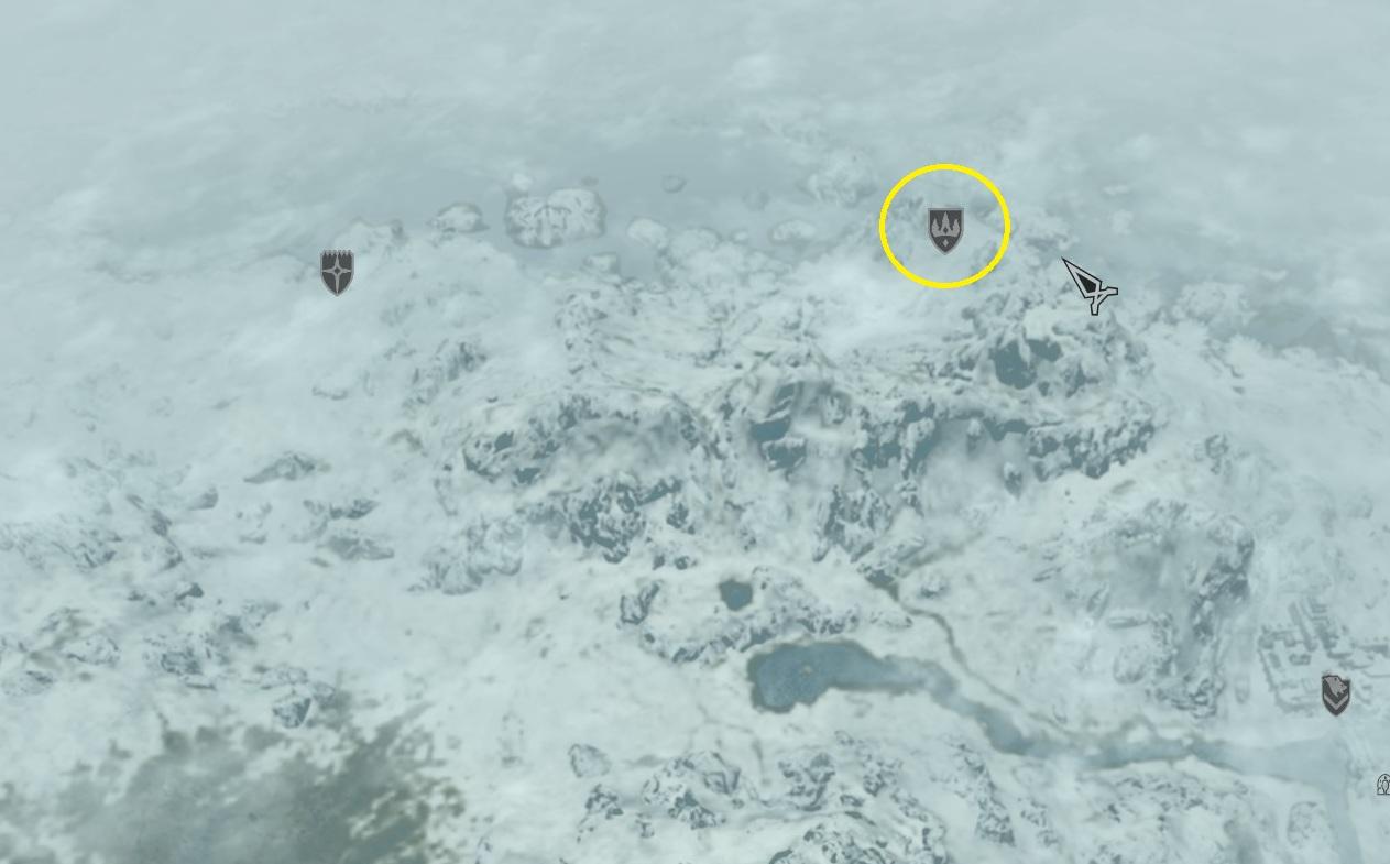 Localize Winterhold no mapa (Foto: Reprodução/Paulo Vasconcellos)