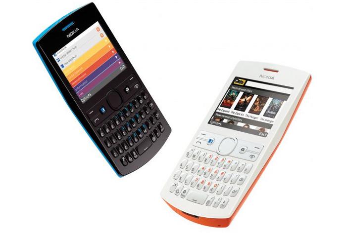 Asha 205 é uma opção com teclado QWERTY e tecla dedicada ao Facebook (Foto: Divulgação/Nokia)