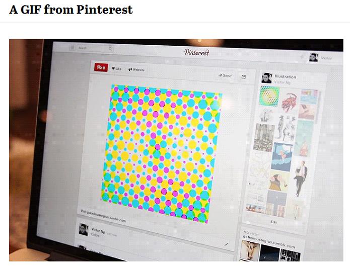 Pinterest anunciou suporte aos Gifs (Foto: Reprodução/Pinterest)