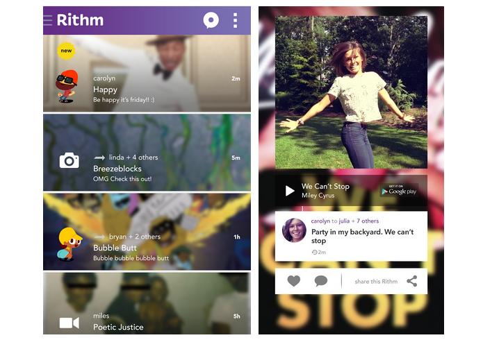 O Rithm é uma rede social de compartilhamento de música (Foto: Divulgação)
