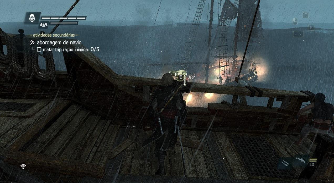 Elimine a tripulação do navio abordado (Foto: Reprodução/Paulo Vasconcellos)