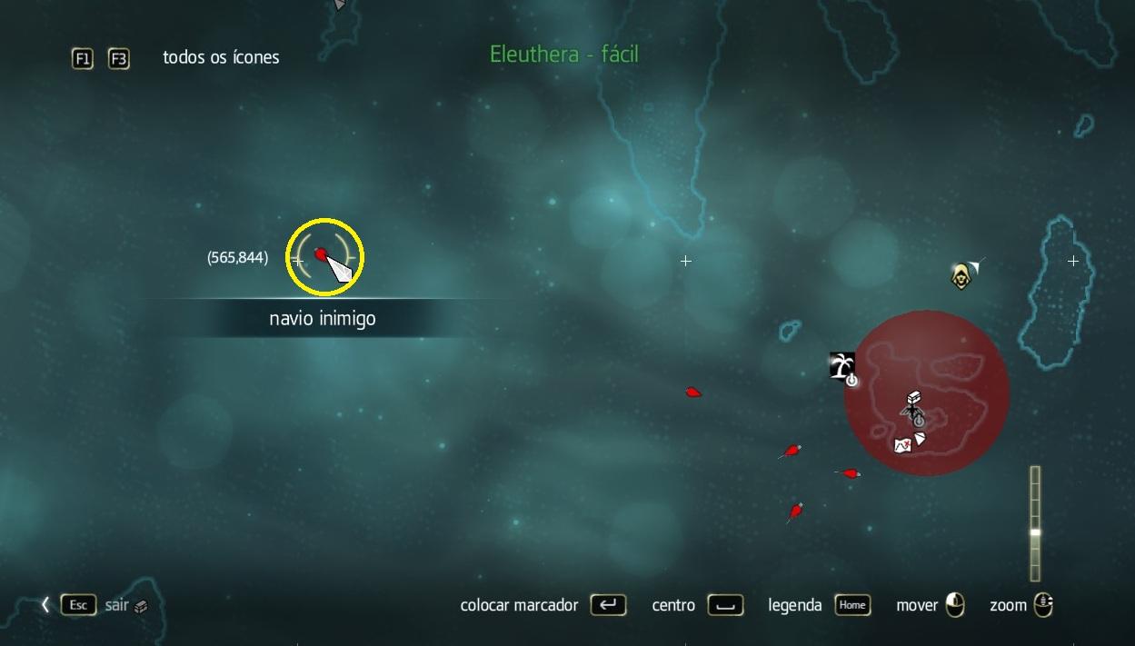 Localize sua vítima no mapa (Foto: Reprodução/PauloVasconcellos)