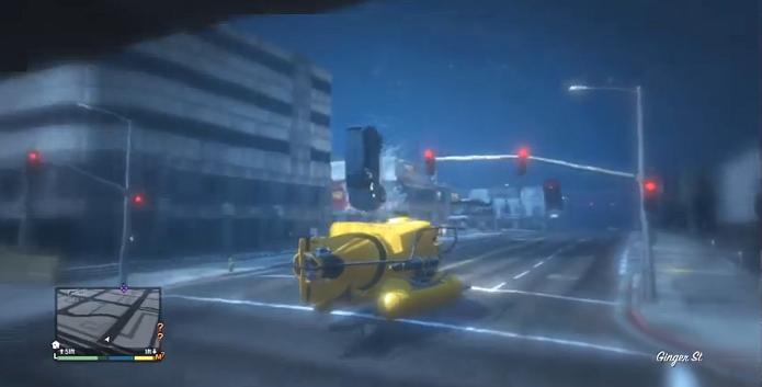GTA 5 ganhou um Mod que inunda as ruas de Los Santos. (Foto: Reprodução/YouTube)