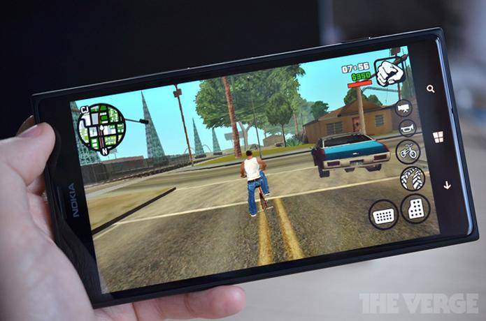 GTA: San Andreas chegou ao Windows Phone. (Foto: Reprodução/The Verge)