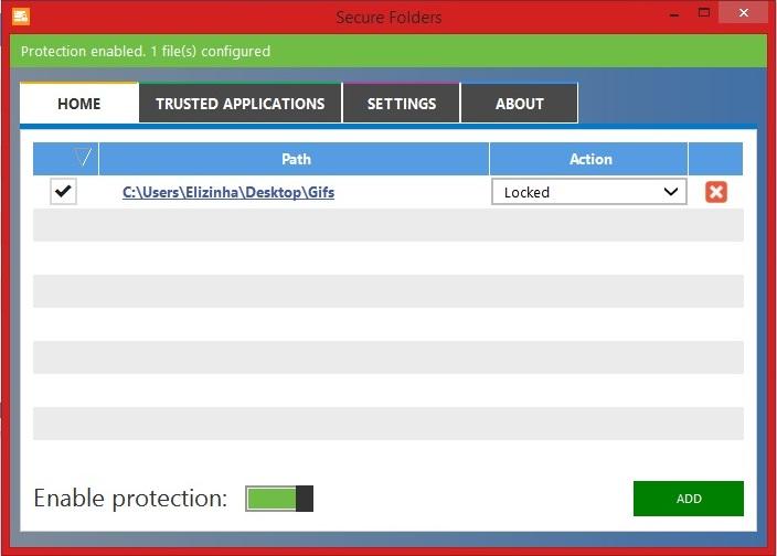 Proteção de pastas ativada no Secure Folders (Foto: Reprodução/Marcela Vaz)
