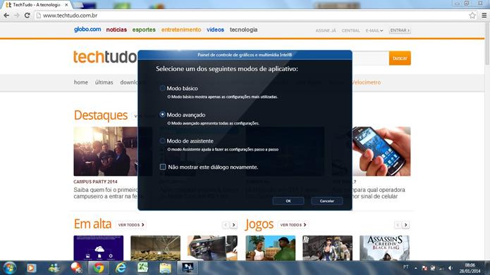 Evite utilizar modos de alto desempenho do computador para atividades corriqueiras (Foto: Reprodução/Daniel Ribeiro)