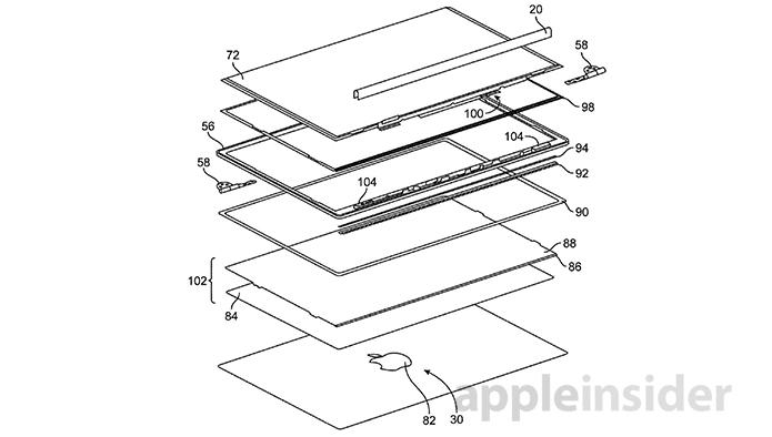Nova patente sugere segunda tela e carregamento com energia solar em MacBooks (foto: Reprodução/Apple Insider)