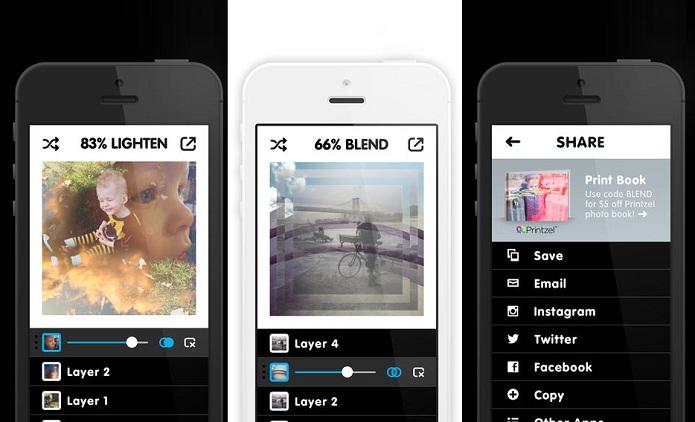 Blend permite misturar várias fotos em uma só de um jeito fácil (Foto: Divulgação)