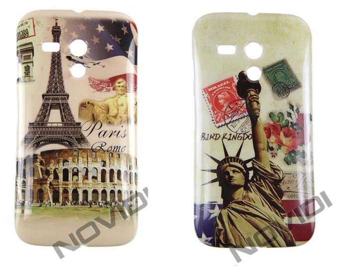 Cases com cartões postais de Nova Iorque e Paris (Foto: Divulgação/Novidi)