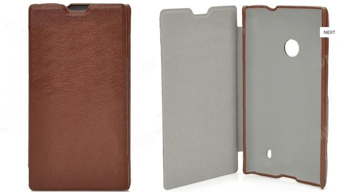 Proteção de couro marrom para o Lumia 520 (Foto: Divulgação/DealExtreme)