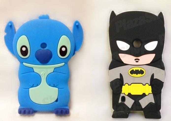 Capas com personagens Stitch e Batman (Foto: Divulgação/PlazzaShop)