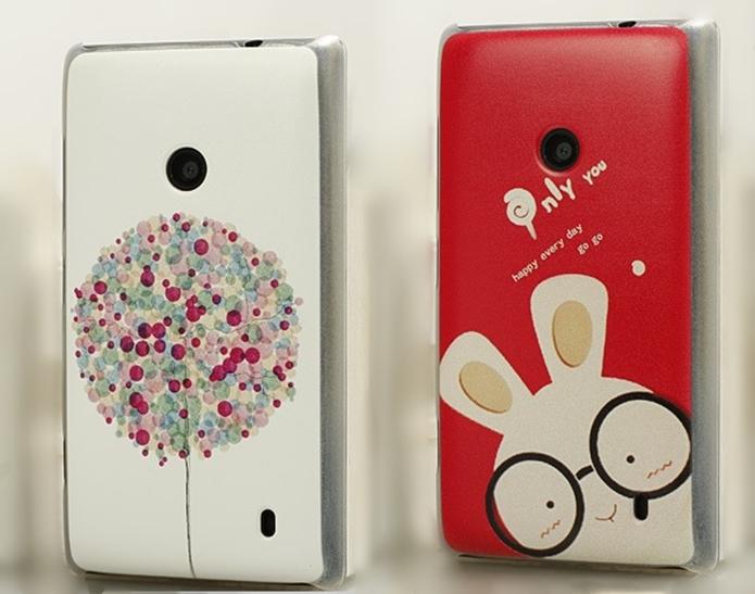 Capas para Nokia Lumia 520 com desenhos variados (Foto: Divulgação/Ali Express)