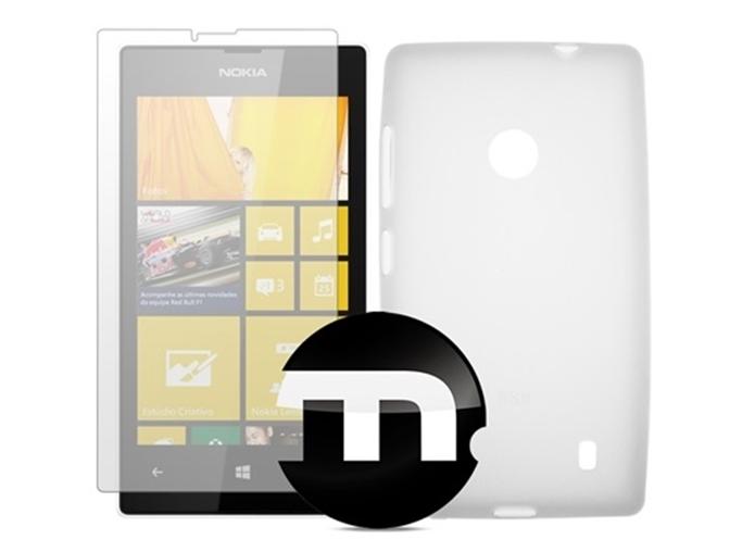 Kit com capa de TPU fosca e película transparente para Lumia 520 (Foto: Divulgação/Macrotecs)