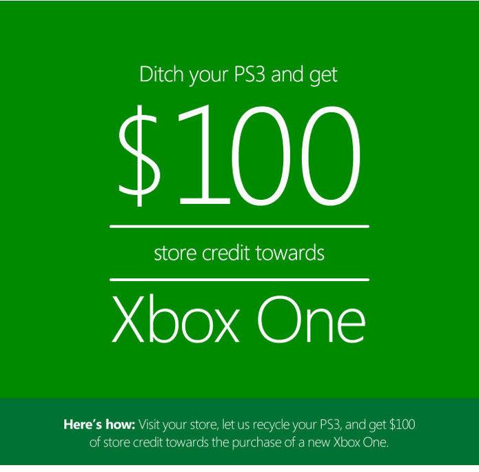 Microsoft aceita PS3 em troca de $100 de bônus na compra do Xbox One. (Foto: Divulgação)