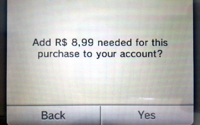 Passo 5 - O eShop perguntará se deseja adicionar a quantidade exata de fundos (Foto: Reprodução)