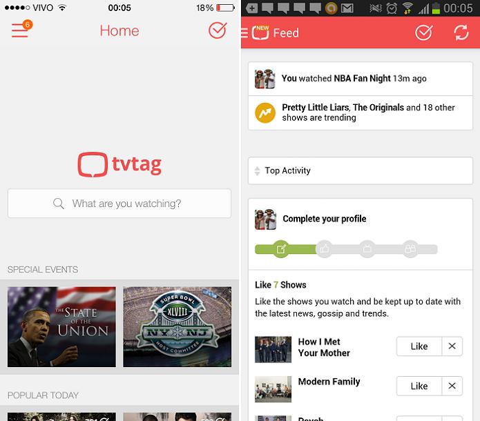 tvtag é um aplicativo de interação entre fãs de TV, substituto do GetGlue (Foto: Divulgação)