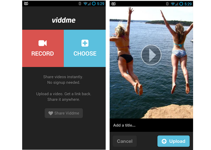 Viddme  é um aplicativo para compartilhamento de vídeos na Internet (Foto: Divulgação)