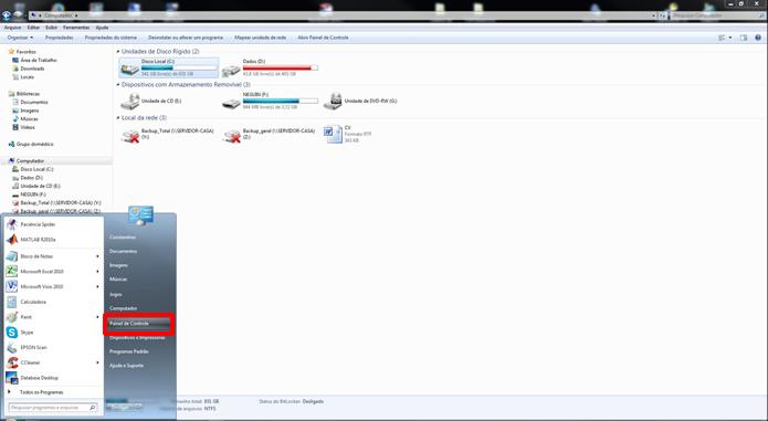 Acesse o Painel de Controle do PC  conectado ao escâner via USB  (Foto: Reprodução/Daniel Ribeiro)