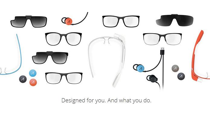 A Google anunciou uma série de armações para lentes de grau e escuras pra seu óculos inteligente (Foto: Reprodução/ Google)
