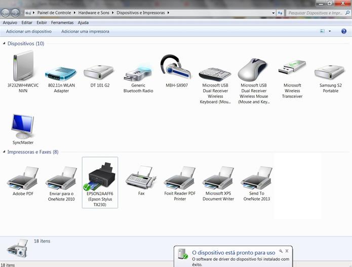 O escâner estará configurado, podendo agora ser acessado remotamente por este PC (Foto: Daniel Ribeiro)