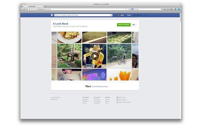 Facebook disponibiliza compilado de melhores momentos para usuários (Foto: Divulgação/Facebook)