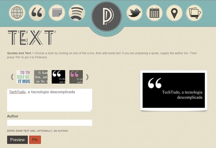 Ferramenta Text permite criar textos com diversas formatações (Foto: Reprodução/Raquel Freire)