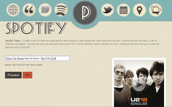Spotify cria pins a partir do nome da música ou álbum do seu artista favorito (Foto: Reprodução/Raquel Freire)