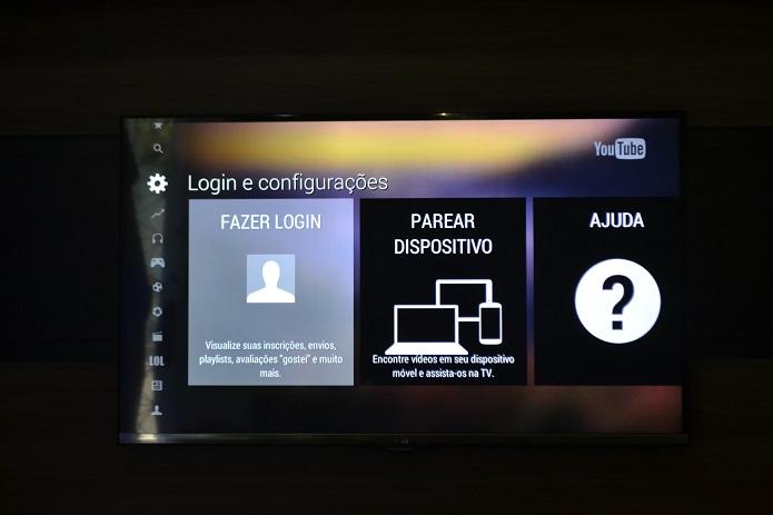É possível fazer login com uma Conta Google (Foto: Thiago Barros/TechTudo)