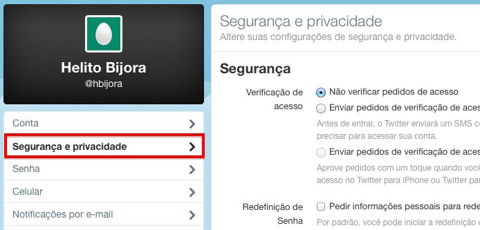 Abra as opções de privacidade (Foto: Reprodução/Helito Bijora)