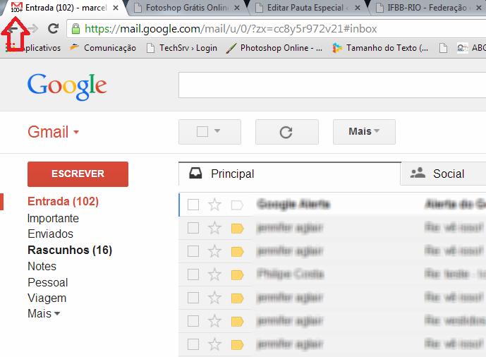 Ícone com o número de mensagens não lidas no Gmail (Foto: Reprodução/ Marcela Vaz)